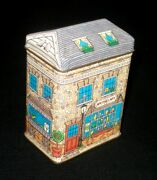 Collectible Keller-charles Of Philadelphia Apothecary Tin Lidded Box 3.5andrdquo Tall