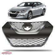 Fits 2016-2018 Nissan Maxima Front Upper Grille Chrome Factory Replacement