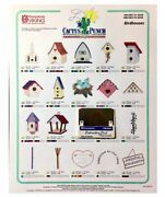 Bird Houses Embroidery Designs Card For Husqvarna Viking Sewing Machines