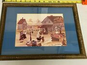 Framed Alice Moseley Numbered And Signed Print Living High Low And Middle On The Hog