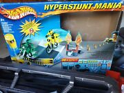 Hotwheels Friction Drive Hyperstunt Motor-x Mania And Extra Track And Boxed Instruct