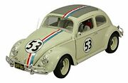 Mattel 1/18 Vw Herbie 1962 The Love Bug Finished Product