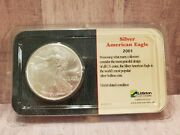 Littleton 2001 Silver American Eagle Uncirculated Condition Sealed Case