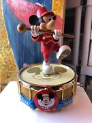 Disney Mickey Mouse Music Box Who's The Leader Of The Club Mousketeer New