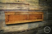 Vintage Pull Down F.c. Hardacre Map Cabinet W/ Early 1900s Illinois Maps