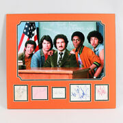 Welcome Back Kotter Signed Cut Matted Photo Display 5 Andndash Coa Bas