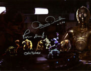 Peter Mayhew Anthony Daniels Signed Autographed 11x14 Photo Star Wars Beckett