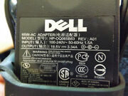 Used Ac Adapter Power Supply Charger For Dell Hp-0q065b83 Rev A01 Laptops