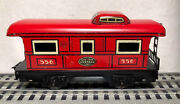 Pre War Marx Tinplate Refab Coffin Nyc 556 Red Caboose/ Made In Usa
