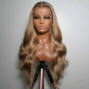 Blonde Full Lace Human Hair Wigs With Preplucked Silk 360 Frontal Wig13x6u Part