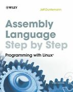 Assembly Language Step-by-step Mint Duntemann Jeff John Wiley And Sons Inc Paper
