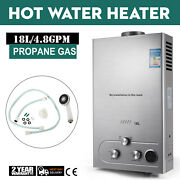 18l Hot Water Heater Propane Gas Instant Tankless Boiler Lpg 5gpm W/ Shower