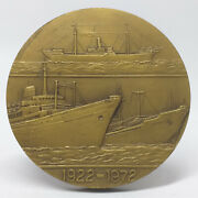 Ccn - Portuguese Colonial Shipping Company 50 Years Bronze Medal 1922-1972 Ships