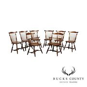 Duckloe Bros Vintage Set Of 8 Windsor Style Dining Chairs
