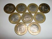 India Coins- 9 X Rs. 10 Great Events -commemorative Coins-2006-2019-rare11l