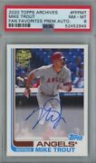 2020 Topps Archives Mike Trout Psa 8 Auto /25 Angels Mlb Superstar
