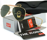 New Ray-ban Outdoorsman Sunglasses Rb 3030 L0216 58-14 Gold Frame Cable Temples