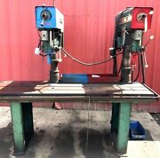 Powermatic Dual Drill Press T-slot Table Table Base 7and039 86l X 40w X 74h