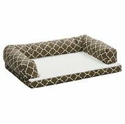 Midwest Homes For Pets Bolstered Orthopedic Dog Sofa Feat Teflon With Brown/f...