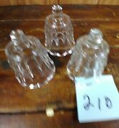 Votive Cups Set Of 3 Homco Home Interior Crystal Clear Glass Vertical Lines