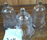 Votive Cups Set Of 3 Homco Home Interior Crystal Clear Glass Angel Design