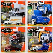 2021 Matchbox Working Rigs Wave C - All 4 Rigs / International / Garbage King Xl