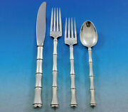 Mandarin By Towle Sterling Silver Flatware Set For 12 Service 51 Pieces Bamboo