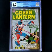 Green Lantern 1 Dc 1960 💥 Cgc 2.0 Ow 💥 1st Guardians Of The Universe Comic