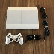 500gb White Limited Edition Playstation 3 Ps3 Super Slim Console System Bundle