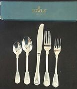 Towle London Shell Stainless Flatware 5 Piece Place Setting 18/8 Korea