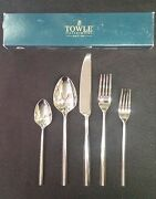 Towle Facets Stainless Flatware 5 Piece Place Setting 18/8 Korea