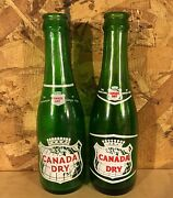 Vintage 1960's Canada Dry Ginger Ale 6 Oz. Acl Soda Pop Bottles 2 Versions