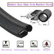20ft Black Rubber Seal Lock Cars Door Ornament Weather Stripping Metal And Trim
