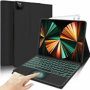 New For Ipad Pro 12.9 5th Generation 2021 Touchpad Backlit Keyboard Folio Case