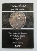 Qqy Your Word Is A Lamp Scripture Psalm Pocket Token Coin Cross Carry Faith Ganz