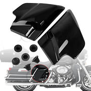 1 Pair Vivid Black Side Cover Panel Rubber Cover Grommets For Harley Road Glide