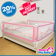 New Baby Bed Safety Adjustable Protective Barrier Fence Crib Gate Rail Guardrail