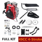 49cc 4-stroke Gas Motorized Bike Bicycle Motor Engine Kit Chain Drive Air-cooled