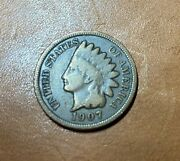 1907 Indian Head Penny - Brown. In Excellent Condition. Uncirculated