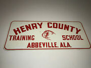 Henry County Training School Abbeville Alabama Booster License Plate