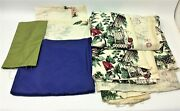 Mixed Lot Of Vintage Cotton Textile Embroidered Silk Sewing Fabric Decorative