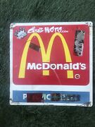 """Vintage Rare""""mcdonalds""""pacific Bell 2 Sided 18""""x18""""sign Metal/graffiti/decals"""