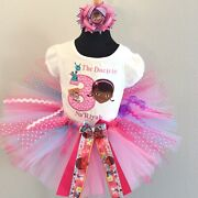 Doc Mcstuffins With Lamb And Dragon Tutu Set Up To Size 5t