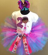 Doc Mcstuffins Full Body Tiered Tutu Set Up To Size 5t