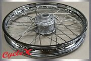 Refurbished Honda Cb750 Front Wheels, 19 In., 1.85 Rim, Laced And Trued