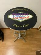 Welcome To Fabulous Las Vegas Pub Table - New In Box - Beautiful