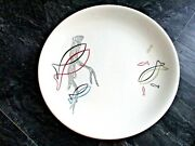 Vintage Retro Mcm Syracuse China Driftwood And Fish Dinner Plate
