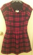 Hawks Geren Ford Urban Outfitters Pink Black Plaid Mad Men Style Dress Nwt Rare