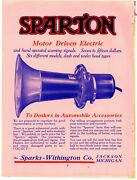 1914 Sparks Withington Co. 4 Pg. True Centerfold Ad On Cardstock Sparton Horns