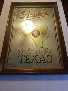 Strohs Beer Glass Mirror Sign 18½